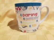 Brownlow Gifts Coffee Tea Mug Be Daring Be Different Be You Heavy Sturdy Cup