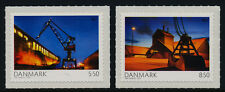 Denmark 1466-7 Mnh Ship, Crane, Port of Aathus