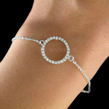 ~Danity Infinity Circle of Love made with Swarovski Crystal Bridesmaids Bracelet