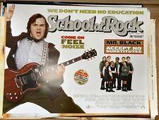 School of Rock (2003) Jack Black Original Quad Film Poster