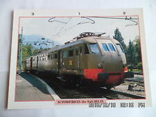 CARTE FICHE TRAIN AUTOMOTRICES ALe 840 DES FS