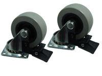 Ctn de 2 - 50mm Placa Fija Individual Ruedas para Plataforma Móvil Giratorias