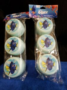 New Lot of Finding Dory Treat Containers 2 Packages of 3 Containers Easter