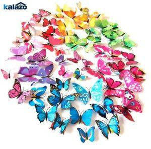12pcs/lot 4cm Plastic 3D Butterfly decor party home wedding Box Gift Wreath