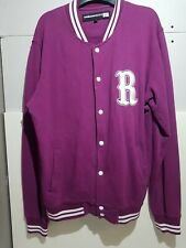 Mens ROUTE ONE Purple Plum Varsity Jacket Size Medium Retro Sports