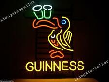 17x14 Inches Guinness Irish Lager Ale Toucan Neon Sign Beer Bar Pub Light