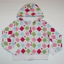 Gymboree Smart And Sweet Argyle Fleece Hoodie 5 6