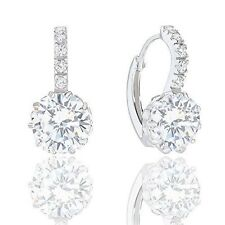 Orrous 18k Gold Plated Solitaire Cubic Zirconia Leverback Earrings (5.00 carats)