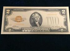 "<MINT> OLD STYLE ""GOLD"" $2.00 GOLD CERTIFICATE Two DOLLAR Rep.*Banknote~"