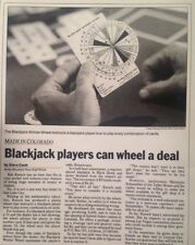 BlackJack Game Gambling Winner Wheel & Manual. Fits in palm of hand!