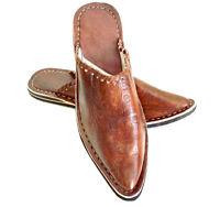Babouche Marocaine cuir cousues m2 chaussure chausson sandale mule pentoufle