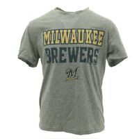Official Milwaukee Brewers Youth Size MLB Athletic polyester T-Shirt New W Tags
