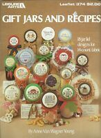 GIFT JARS & RECIPES ~ 18 Designs for 14ct Counted Cross Stitch Leisure Arts #374