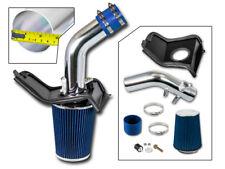 BCP BLUE For Subaru 08-14 WRX/STi 2.5L Turbo Cold Air Intake +Heat Shield