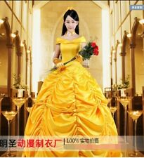 Adult Beauty and The Beast Cosplay Costume Belle Princess Ball Gown Fancy Dress