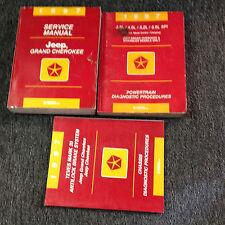 1997 Jeep Grand Cherokee Service Workshop Repair Manual Set OEM W DIAGNOSTICS +