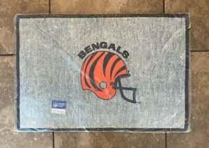 Vintage Cincinnati Bengals Door Mat Floor Mat Tailgate NFL football Deadstock