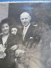PHOTOGRAPHIE ORIGINALE RARE PERE DE BORIS VIAN & FEMME 1940 Signée J. SEGUIN