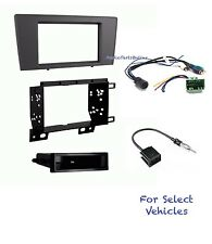 Car Stereo Radio Dash Kit Combo for 2001 2002 2003 2004 Volvo S60 XC70 V70 w/Amp