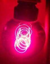 Alte rote Wedel Kohlefaden Glühbirne Glühlampe Rotlicht Rheotherm Vintage !