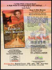 ESCAPE TO WHITE MOUNTAIN__Orig. 1994 Trade print AD / promo__CALEB SMITH__Apache