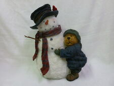 Boyds Bear Chilly & Willie Garden Statue 6514531 Snowman NIB