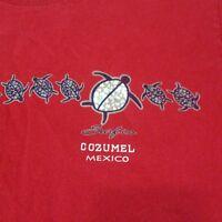 T-Shirt Cozumel Mexico Surfco Boys Med. Surf Turtle Short Sleeve Heavy Cotton
