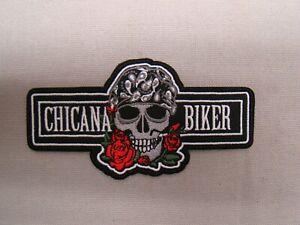 Chicana Biker patch Chicana patch jacket hat patch Hispanic patch Latina patch