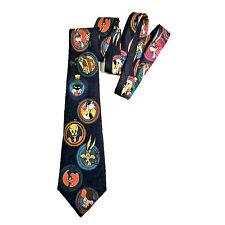Looney Tunes Mania Bugs Sylvester Road Runner Tweety Bird Elmer Fudd Silk Tie