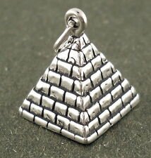 Pyramid Charm Sterling Silver Pendant 3d Ancient Monument Travel