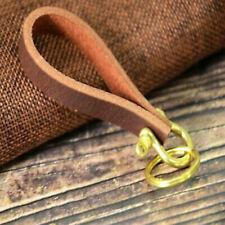 Leather Keychain Schildkröten-Rissschlüsselhalter Echtleder Schlüsselbund Dicker