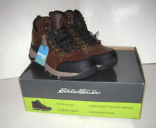NEW EDDIE BAUER MEN'S BRAD HIKING BOOTS SHOES Size 13 BROWN WATERPROOF LEATHER