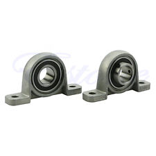 2X Zinc Alloy Diameter 17mm Bore Ball Bearing Pillow Block Mounted Support KP003