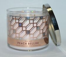 NEW BATH & BODY WORKS PEACH BELLINI SCENTED CANDLE 3 WICK 14.5OZ LARGE PINK GOLD