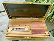 Antique Emerson Tube Radio Model 584 from the 1940's Made in USA Portable Folds