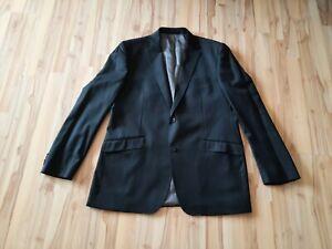 Sakko in schwarz von Lanificio Giovanni Luciano, Größe 56