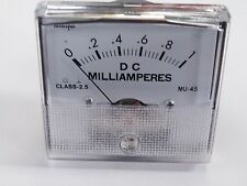 Panel Meter 1mA fsd Scaled 0-1 DC Miliamperes 59x53mm MU45-1mA