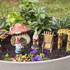 Fairy Garden gnomes miniatures Kit set for outdoor Decor Miniature Gift statue
