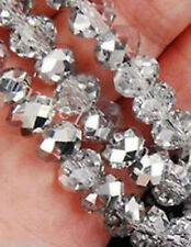 150pcs Crystal Loose Beads 3x4mm Silver white