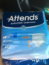 Attends Adult Diapers Incontinence Bariatric Underwear XXL 2XL 48 pc 4 packs Box