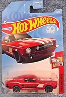 2018 Hot Wheels #20 Then and Now 4/10 '67 MUSTANG Red w/Black MC5 Spoke Wheels