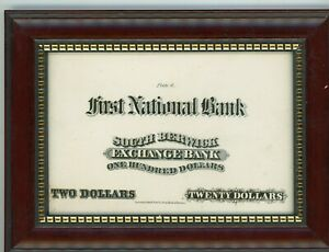 1870S $2 $20 $100 NAT'L CURRENCY SOUTH BERWICK  BANK COUNTERFEIT DETECTOR