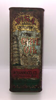 Vintage Collectible PISA Olive Oil Tin, R.Vannucci Co San Fran CA Leaning Tower