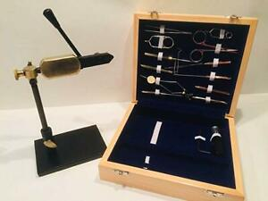 FLYCAST Rotary Fly Tying Vice and FULL SET of tools