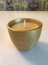 New gold votive glittering effect candle, Christmas cedar beeswax colour wax