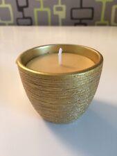 NUOVO GOLD votive Scintillanti effetto candela, Natale Cedar cera d'api Cera di colore