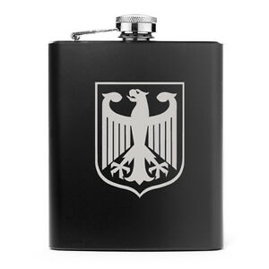 7oz Stainless Steel Liquor Hip Flask Coat of Arms of Germany German Eagle