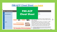 AGILE PMI-ACP Exam Prep/ Cheat Sheet Brain Dump Sheet in Plain English -11 pages