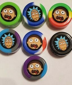Amazing 3D printed Rick and Morty Silicone containers for concentrates 2 Pack