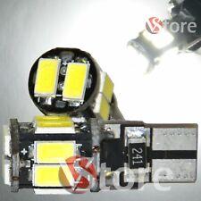 2 Led T10 Lampade Canbus 10 SMD 5630 No Errore Luci BIANCO Posizione Auto W5